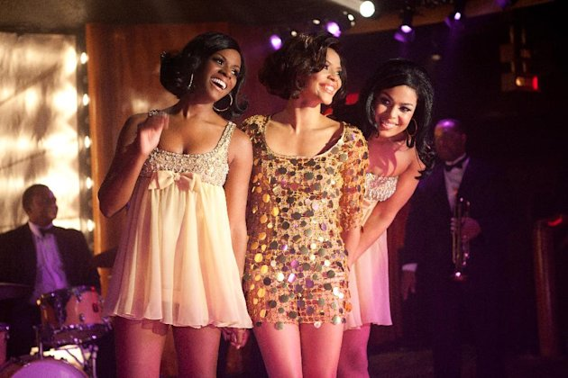 "This undated film image released by TriStar Pictures shows, from left, Tika Sumpter, Carmen Ejogo and Jordin Sparks in a scene from ""Sparkle."" (AP Photo/TriStar Pictures - Sony, Alicia Gbur)"