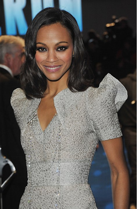 Avatar UK premiere 2009 Zoe Saldana