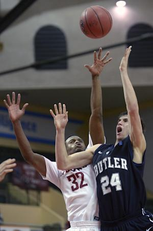 Butler advances after a 76-69 win over Wash. St