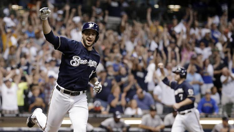 Braun's single in 9th sends Brewers by Rockies 3-2