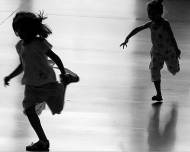 The Microwave Effect… image children playing tag