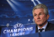 Bayern Munich's head coach Jupp Heynckes looks on during a press conference for the forthcoming UEFA Champions League round of 16 football match between Arsenal and Bayern Munich in the team hotel in London, on February 18, 2013. Heynckes has urged Arsenal supporters to stop criticising Arsene Wenger because the Gunners boss can no longer compete financially with English football's big spenders