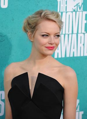 Emma Stone steps out at the 2012 MTV Movie Awards held at Gibson Amphitheater in Universal City, Calif. on June 3, 2012  -- Getty Premium