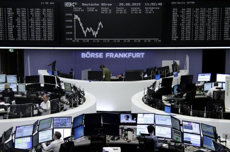 European shares dip, set for weakest month since August 2011