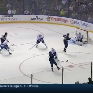 Eddie Lack Save on Jaden Schwartz (07:13/1st)
