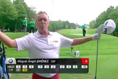 Watch Miguel Angel Jimenez set a new hole-in-one record on the European Tour