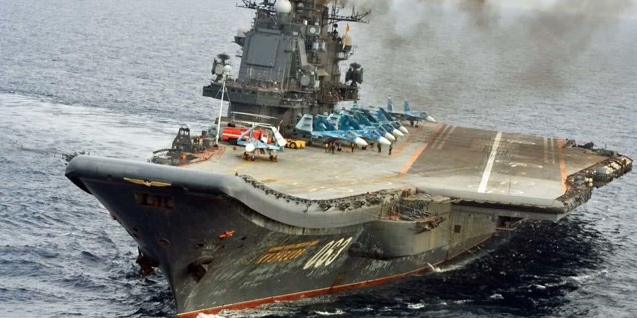 Russia's Sad, Smokey Aircraft Carrier Loses Second Fighter in Two Weeks