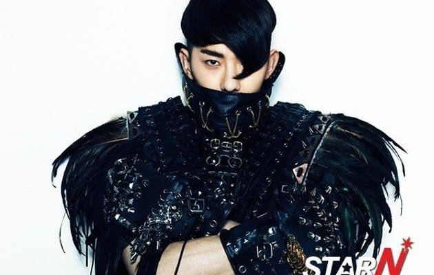 Jo Kwon's S & M inspired leather and feathers look for his new solo album (Photo courtesy of StarN)