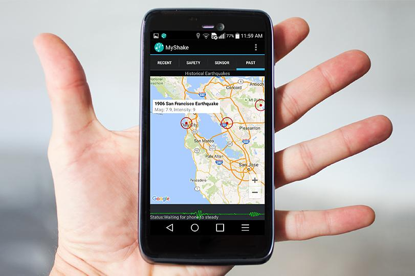 MyShake turns your smartphone into an earthquake detector and research tool
