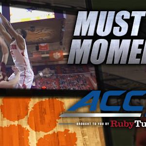 Clemson's Blossomgame Electrifying Putback Dunk | ACC Must See Moment
