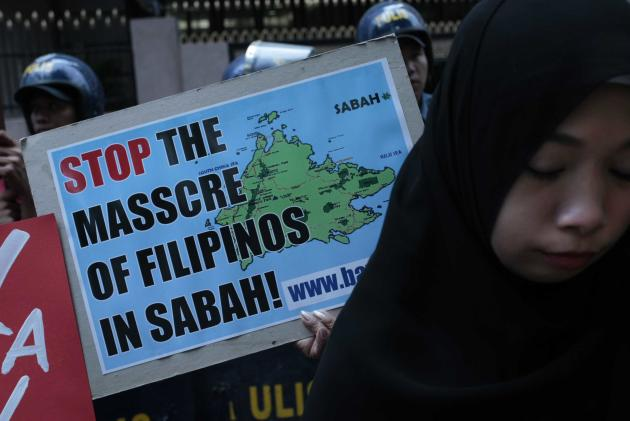 Protests urge Malaysia to halt attacks in Sabah