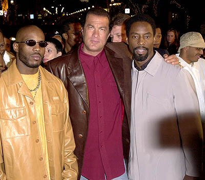 DMX , Steven Seagal and Isaiah Washington at the Westwood premiere of Warner Brothers' Exit Wounds