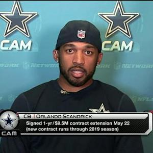 Dallas Cowboys cornerback Orlando Scandrick: 'I think we just continue to get better and better'