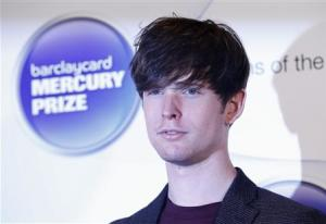 Musician Blake, nominated for the Mercury Music Prize, poses for a photograph ahead of the ceremony in north London