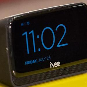The voice-activated Ivee Sleek doesn't always talk back