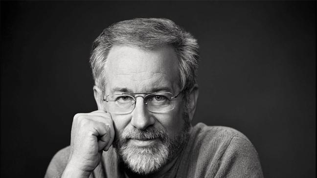 """This book cover image released by Sterling Publishing shows """"Steven Spielberg: A Retrospective,"""" by Richard Schickel. The book features film critic Richard Schickel in conversation with Spielberg as he looks back on the last 40 years. Chapters are chronological by movie.  (AP Photo/Sterling Publishing)"""