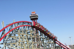 The New Texas Giant roller coaster at Six Flags Over Texas.