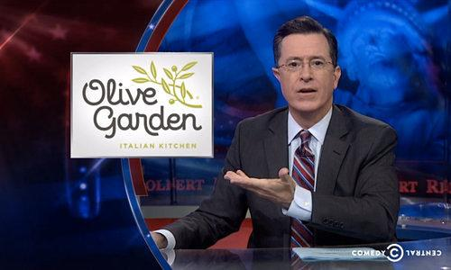 Video Interlude : Watch Stephen Colbert Stand Up for the Olive Garden