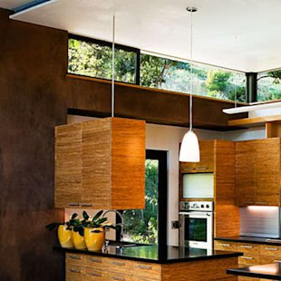 Bamboo blends with natural materials in the home