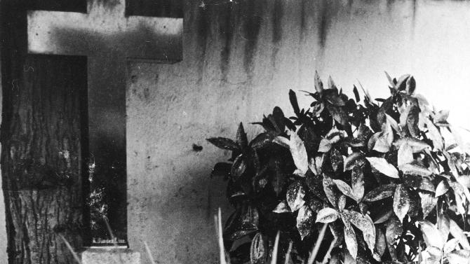FILE - This undated file photo shows the grave of Alois and Klara Hitler, the parents of German Nazi Dictator Adolf Hitler, in Leonding near Linz, Austria. Leonding Mayor Walter Brunner says Friday, March 30, 2012, that the tombstone marking the grave will be removed. Brunner says the decision was made by a relative of the family who says she does not want the grave to continue serving as a neo-Nazi pilgrimage site. (AP Photo, File)
