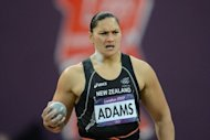 New Zealand's Valerie Adams competes in the women's shot put final at the athletics event of the London 2012 Olympic Games, on August 6. Adams, the 2008 Olympic and three-time world champion, had resigned herself to the relative disappointment of silver before Olympic officials announced her Belarussian arch-rival Nadezhda Ostapchuk had been disqualified for doping