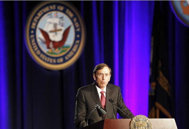 Former CIA director David Petraeus speaks at the University of Southern California in Los Angeles