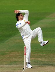 Saeed Ajmal (pictured) took the wickets of Tharanga Paranavitana and Thilan Samaraweera in the third Test