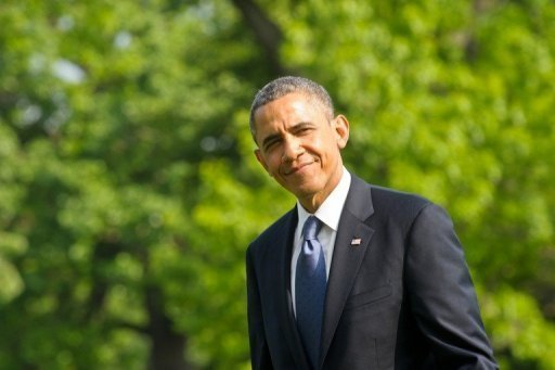 Barack Obama este domingo a su regreso a la Casa Blanca desde Atlanta