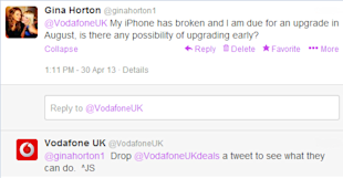 How Many Twitter Accounts Should A Brand Have? image vodafone