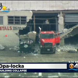 Tractor Trailer Crashes Into Warehouse