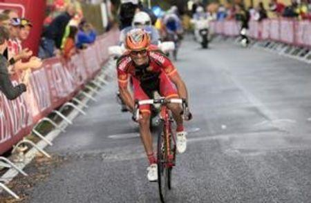 Spain's Rodriguez competes in the men's elite road race at the UCI Road World Championships in Florence