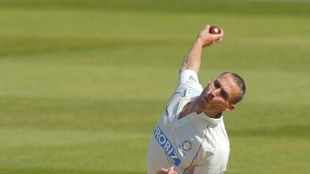 Simon Jones claimed two for 17 against Middlesex