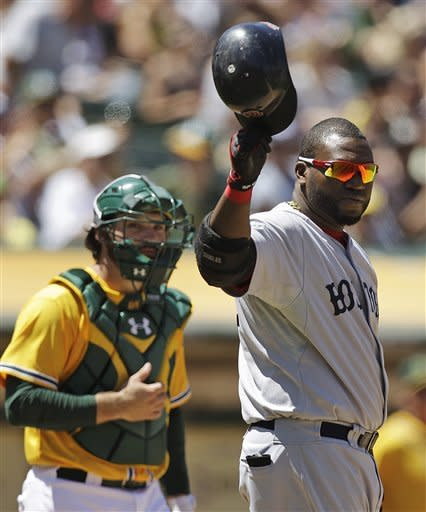 Brandon Moss' bat lifts A's to sweep of Red Sox