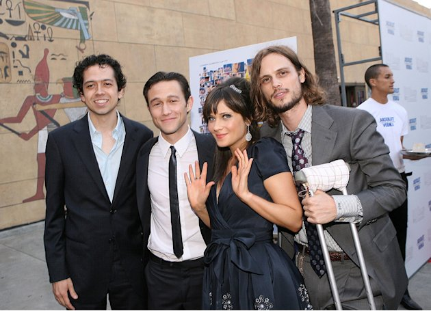 500 Days of Summer LA premiere 2009 Geoffrey Arend Joseph Gordon Levitt Zooey Deschanel Matthew Gray Gubler