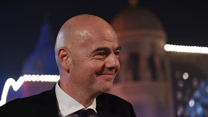UEFA's Gianni Infantino at the Asian Football Confederation Annual Awards ceremony in Gurgaon on November 29, 2015