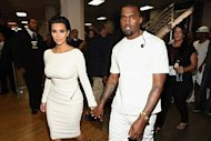 Kim Kardashian and Kanye West. Getty Images