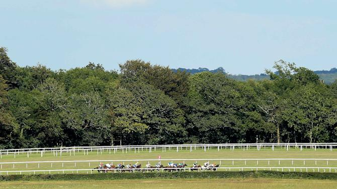 General view of Goodwood during the 4:55 Telegraph Nursery Stakes (Handicap)