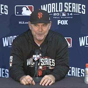 Raw Video: Bruce Bochy On Loss In Game 6 Of World Series