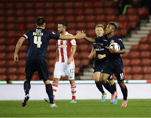 Soccer - Capital One Cup - Second Round - Stoke City v Walsall - Britannia Stadium