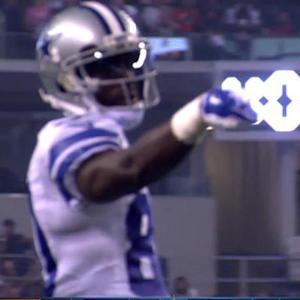 Dallas Cowboys quarter back Brandon Weeden's 26-yard pass to wide receiver LaRon Byrd