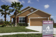 <p>               This Dec. 20, 2011, shows a new home for sale in Apopka, Fla.  Americans bought slightly more new homes in November, but 2011 will likely end up as the worst year for sales in history. (AP Photo/John Raoux)