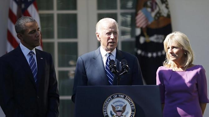 Joe Biden says he is 'out of time' to run for president in livestream