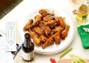 Crispy baked chicken wings, perfect for game day