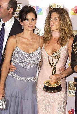 Courteney Cox and Jennifer Aniston Emmy Awards - 9/22/2002