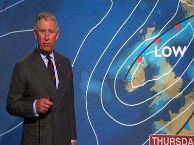 Raw Video: Prince Charles does the weather