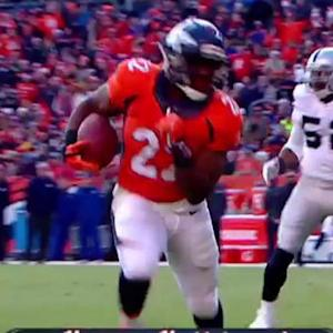 Denver Broncos running back C.J. Anderson 1-yard touchdown run