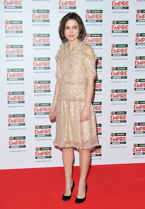 Keira Knightley in a matronly frock
