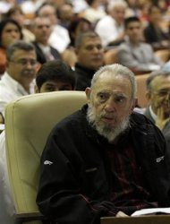 Former Cuban leader Fidel Castro attends the opening session of the National Assembly of the Peoples Power in Havana February 24, 2013. REUTERS/Ismael Francisco/Courtesy of Cubadebate/Hand Out