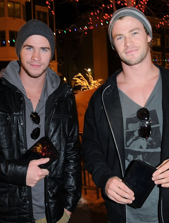 Chris Hemsworth and Liam Hemsworth photos: We'd take our hats off to these two tasty boys! Copyright [Getty]