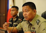 Philippine Army spokesman, Colonel Randolph Cabangbang, pictured during a press conference in Manila, on March 8, 2013. A group of 21 Filipino UN peacekeepers seized by Syrian rebels on the Golan are expected to be freed Saturday during a two-hour truce between the insurgents and government forces, according to a watchdog